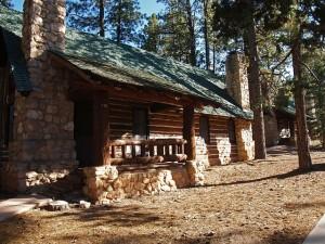dom z bali w lesie